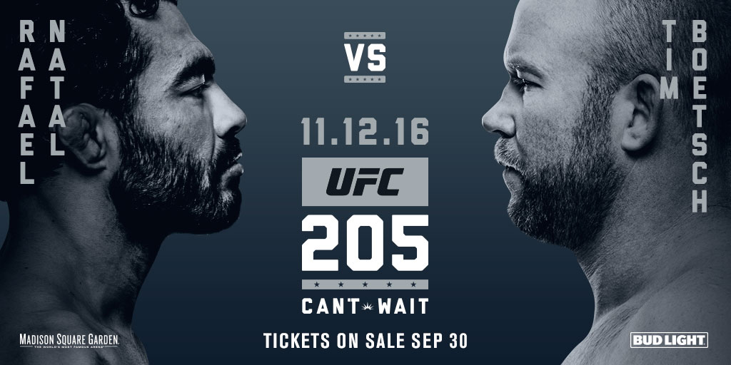 Boetsch and Natal will meet during the FIGHT PASS prelims on Nov. 12 at UFC 205
